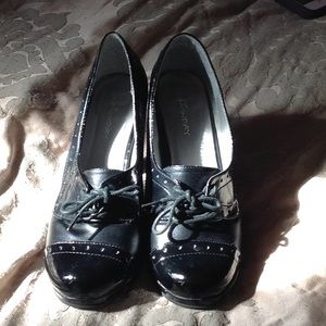 Gently worn adorable black shoes.